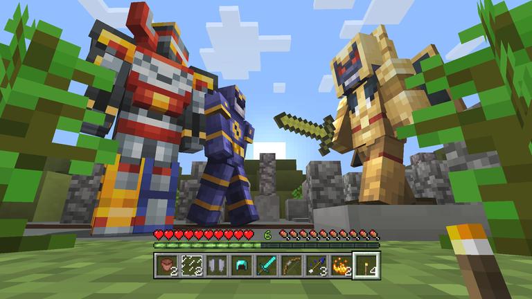 Minecraft lança skins inspirados em Power Rangers