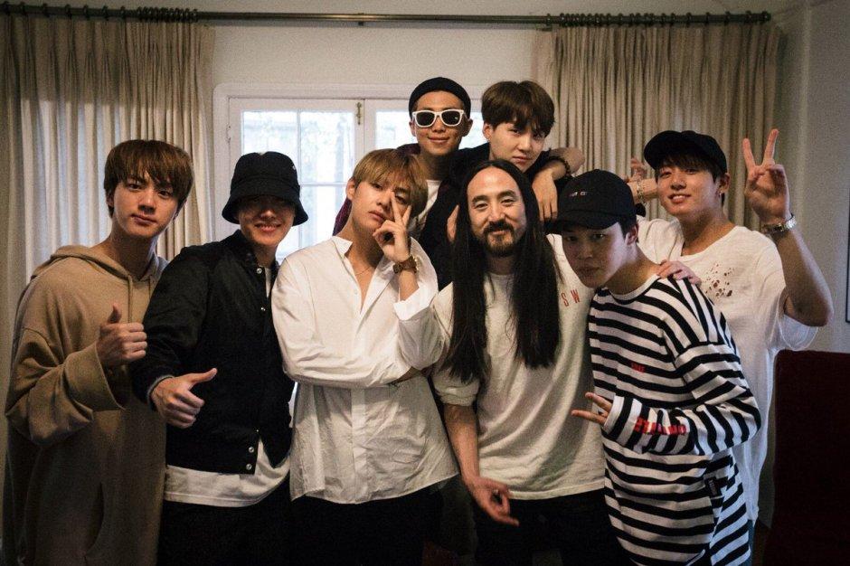 Grupo BTS fará parceria com Steve Aoki