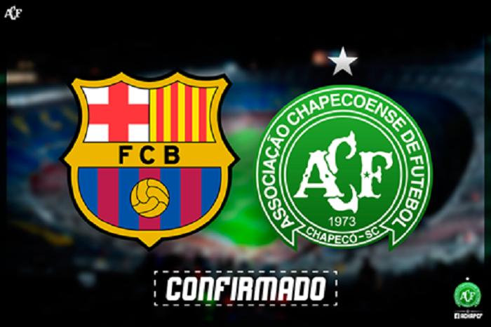 Chapecoense confirma amistoso contra o Barcelona