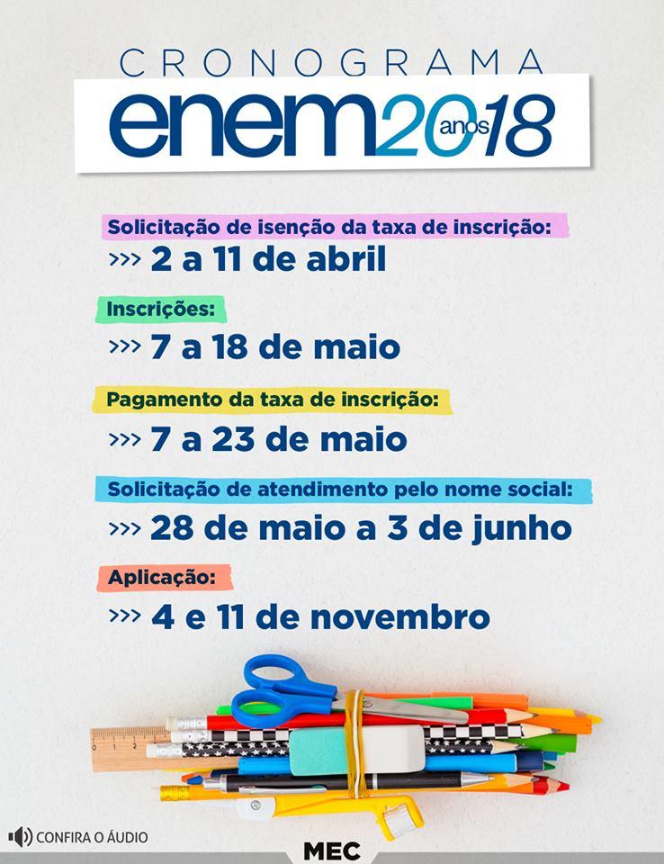 Já dá para pedir isenção da taxa de inscrição do ENEM 2018. Veja o calendário oficial