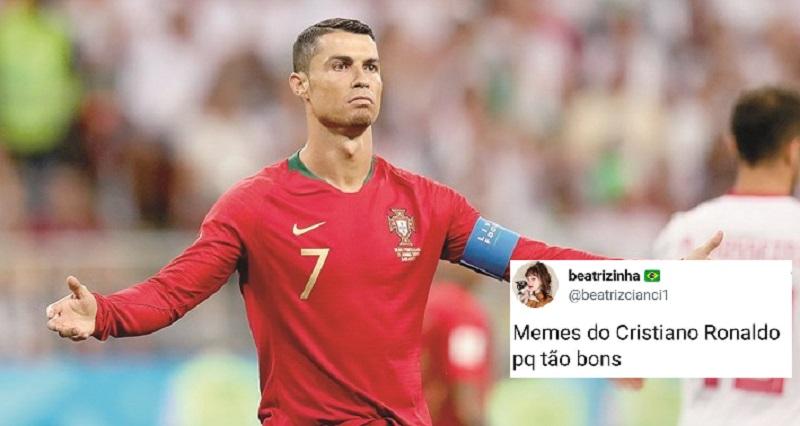 Cristiano Ronaldo está ganhando a Copa do Memes!