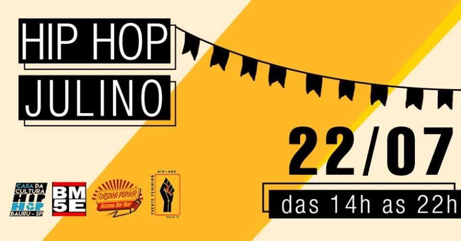"""Vai ter """"Hip Hop Julino"""" na Casa do Hip Hop em Bauru"""