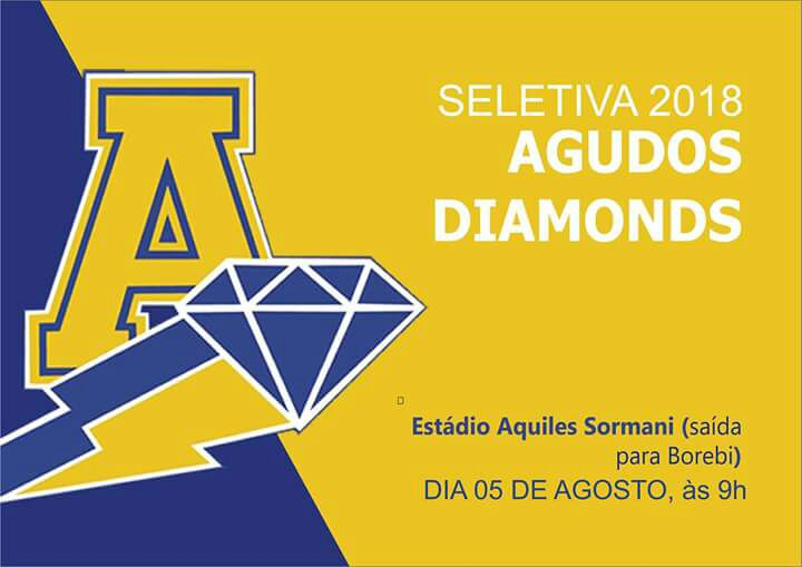 Time de Futebol Americano Agudos Diamonds realiza seletiva