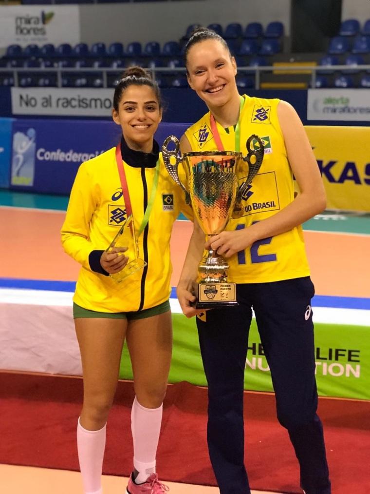 Sesi Vôlei Bauru tem duas atletas campeãs sul-americanas Sub-20