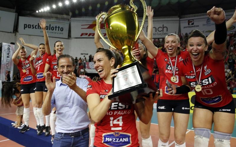 Sesi Vôlei Bauru vence Osasco e, pela primeira vez, é campeão Campeonato Paulista 2018