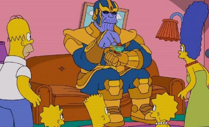 """Thanos transforma """"Os Simpsons""""em pó. Assista!"""